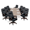 Kingston Standard Faux Leather Executive Chair - Set of Eight, 55606