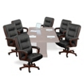 Set of Six Faux Leather Chairs, 50983