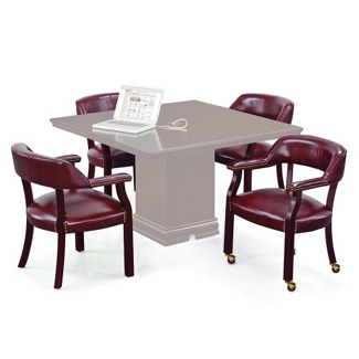 Set of Four Captain Chairs Without Casters, 55582