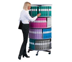 Binder Carousel with 4 Tiers and Casters, 31441