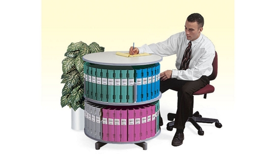 Binder Carousel with 2 Tiers, 31432