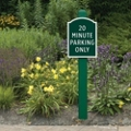 """Sign Post with Beveled Top 36"""" High, 91972"""
