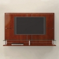 "74""W Four Panel Media Wall with Shelves, 43419"