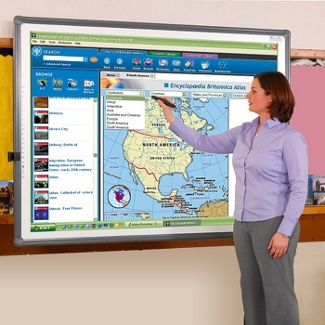 "77"" Diagonal Wall-Mount Interactive Whiteboard, 80274"