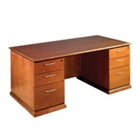 "66""W x 30""D Double Pedestal Desk, 13329"