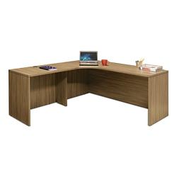 "Wood Grain Corner L-Desk with Left Return - 71""W, 14294"