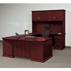 Bowfront U-Shape Desk with Hutch, 15826
