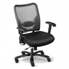 Big and Tall Mesh Chair with Leather Seat, 50609