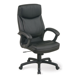 Bonded Leather Executive Chair with Contrast Stitching, 50612