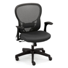 Linear Collection Mesh-Back Memory Foam and Fabric Seat Office Chair, 50847