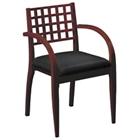 Wood Side Chair with Fabric Seat, 55517