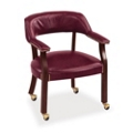 Set of Four Captain Chairs with Casters, 55583