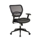 Space Leather Task Chair with Mesh Back, CD00440