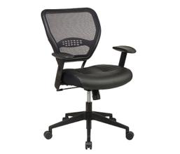 Bonded Leather Mesh Back Task Chair, 56992