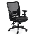 Ergonomic Chair with Leather Seat and Mesh Back, 56482