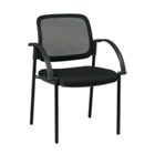 Fabric Reception Chair with Mesh Back, CD00468