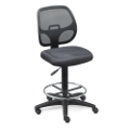 Mesh Back Stool with Fabric Seat, 56805