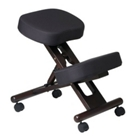 Knee Sit Chair with Espresso Wood Frame, CD05339