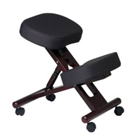Knee Sit Chair with Mahogany Wood Frame, CD05340