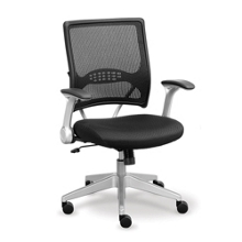 Linear Collection Mesh Chair with Memory Foam Seat, 56945