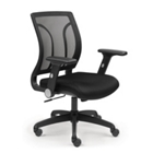 Essential Mesh Back Chair with Flip Arms and Memory Foam Seat, CD06123