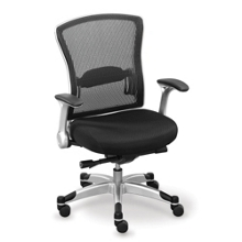 Linear Collection Mesh-Back Chair with Memory Foam Seat, 56952