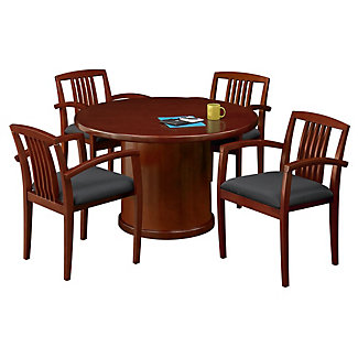 48 Round Conference Table With 4 Side Chairs 86103 And