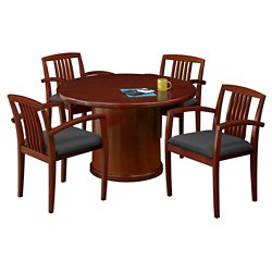 48 Round Conference Table With 4 Side Chairs 86103 And More Office