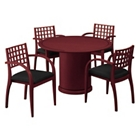 "48"" Round Table with Four Guest Chairs, 86106"