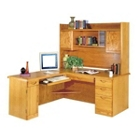 Executive L-Desk with Hutch - Left Return, 13206