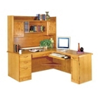 Executive L-Desk and Hutch - Right Return, 13207