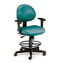 24 Hour Task Stool with Arms and Foot Ring, 25044