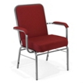 500 lb. Capacity Big & Tall Stack Chair with Arms, 51347