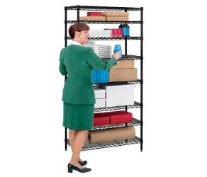 "Storage Unit with Eight Wire Shelves - 36""W x 18""D, 31488"