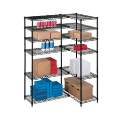 l shaped storage unit with 12 wire shelves 31489 and. Black Bedroom Furniture Sets. Home Design Ideas