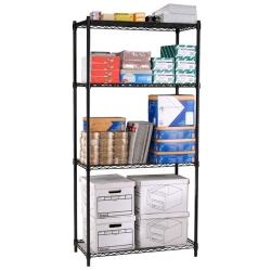 "Storage Unit with Four  Wire Shelves - 48""W x 24""D, 31493"