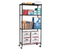 "Mobile Storage Unit with Four Wire Shelves - 36""W x 18""D, 31555"