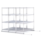 "X5 Lite Storage System - Three 4-Shelf Units, 38""W x 118""D, CD03314"