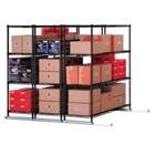 "X5 Lite Storage System - Three 4-Shelf Units, 50""W x 118""D, CD03315"