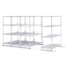"""X5 Lite Storage System - Four 4-Shelf Units, 38""""W x 118""""D, CD03316"""