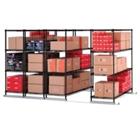 """X5 Lite Storage System - Four 4-Shelf Units, 50""""W x 118""""D, CD03317"""