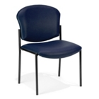 Anti Microbial Vinyl Armless Stack Chair, CD03402