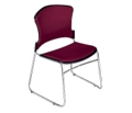 Armless Fabric Stack Chair, 44180
