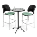 Round Cafe Table with Two Stools, 44565
