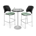 Round Flip-Top Cafe Table with Two Stools, 44567
