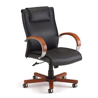 Apex High Grade Leather Mid-Back Chair, 50728