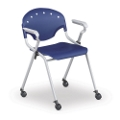 Stack Chair with Arms and Casters, 51262