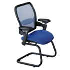 Mesh Guest  Chair with Leather Seat, CD03413