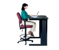 Mid Back Ergonomic Stool with Arms, 56178