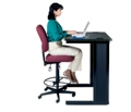Mid Back Armless Ergonomic Stool, 56179